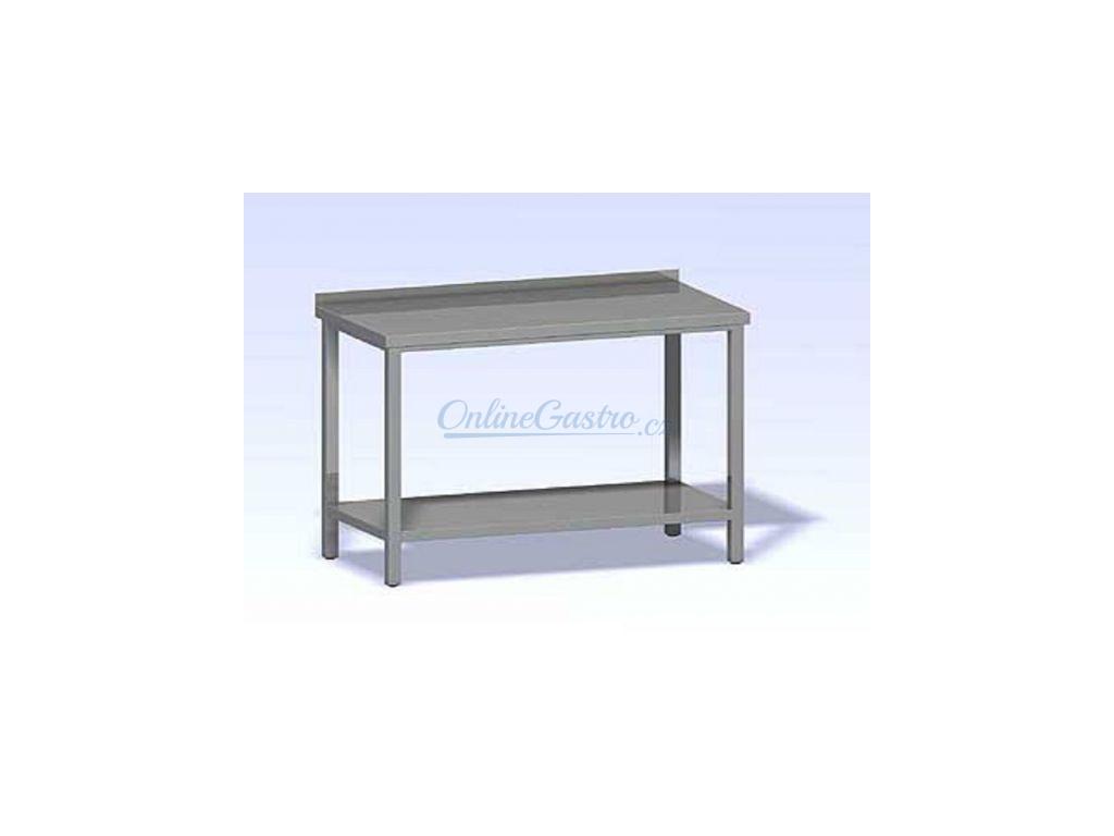 Nerezový stůl s policí SP-1200x700