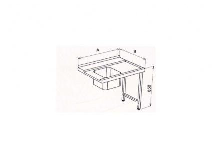Stůl vstupní s dřezem 140x75x85