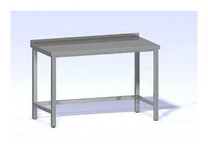 Nerezový pracovní stůl ST-600x700