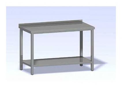 Nerezový stůl s policí SP-600x700