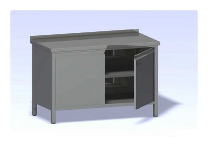 Nerezový stůl opláštěný s dvířky 2000x700