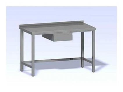 Nerezový pracovní stůl se zásuvkou 800x600