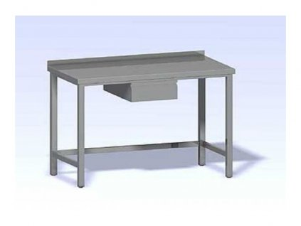 Nerezový pracovní stůl se zásuvkou 800x700