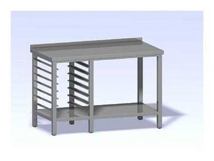 Nerezový stůl se vsuvy na gastronádobu 1200x700