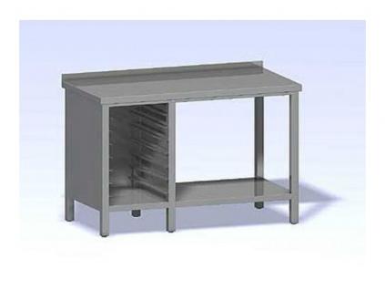 Nerezový stůl se vsuvy pro GN opláštěný2000x800