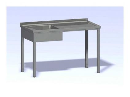 Nerezový mycí stůl s jedním dřezem SMD-1300x700(400x400x250)