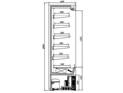 JUKA Varna 250/60 DP mini posuvné prosklené dveře, bez agregátu