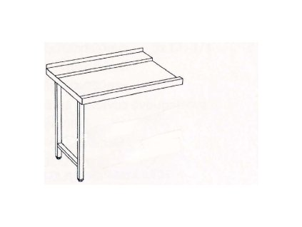 Stůl výstupní 80x75x85 pravý