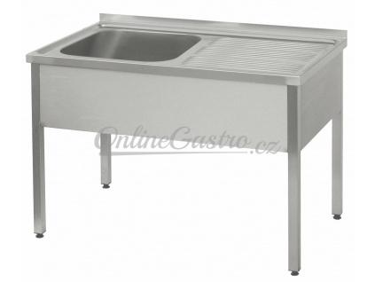 Stůl mycí 140x60, nádoba 50x50x30 cm P