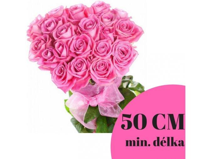Kytice růžových růží 50 cm