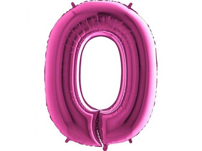 Balon foliove cislo ruzove 0 71WPINK0