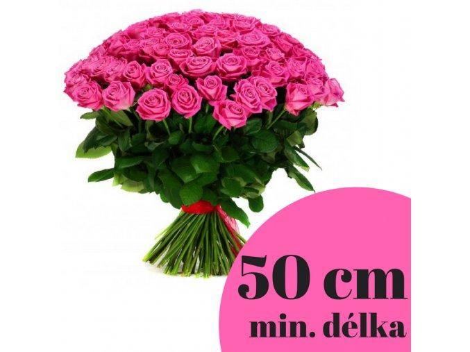 Puget růžových růží 50 cm