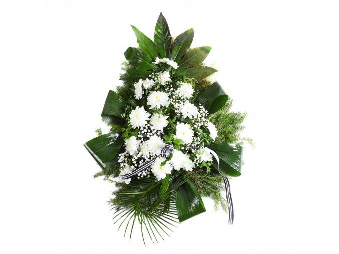 Smuteční kytice z chryzantém