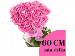 Kytice růžových růží 60 cm