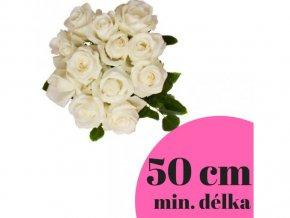 Kytice bílých růží 50 cm