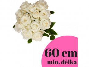 Kytice bílých růží 60 cm