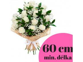 Velká kytice bílých růží 60 cm