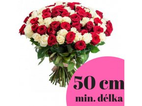 Kytice kombinovaných růží 50 cm