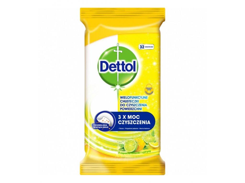dettol citron a limeta dezinfekcni ubrousky na povrchy 32 ks