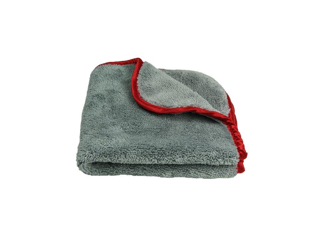 4280 lare grey red towel grt600 mikrovlaknova uterka 40x40 cm