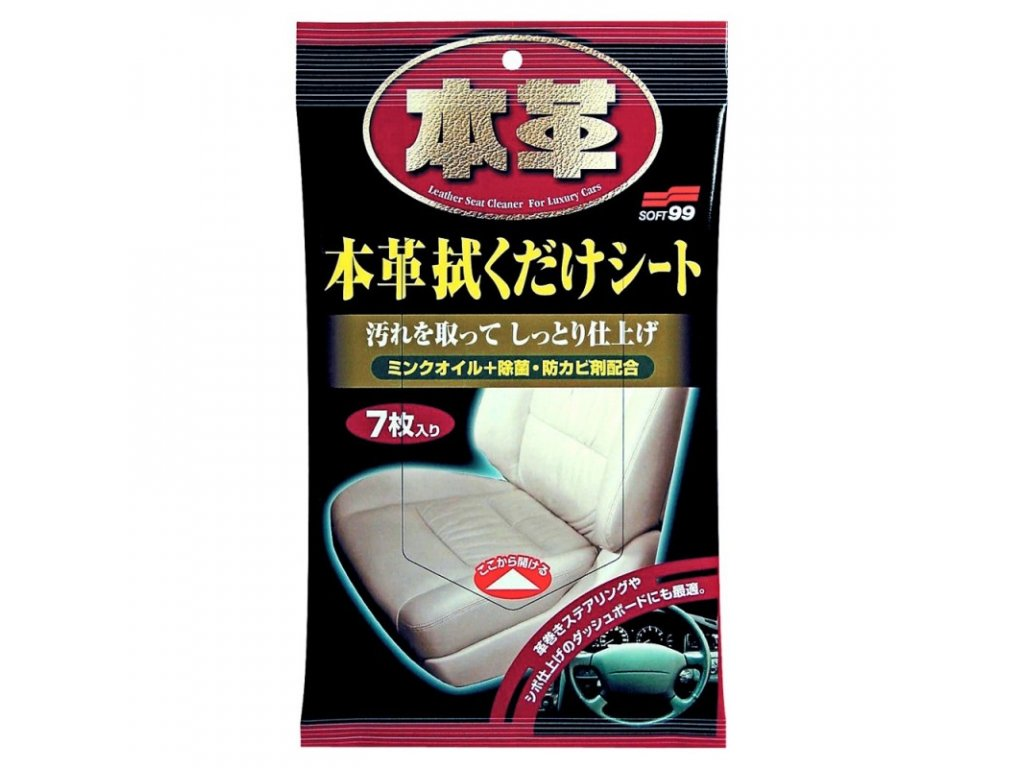 leather seat cleaning wipe