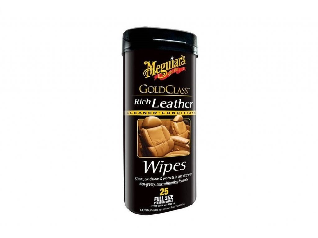 4299 meguiars gold class rich leather cleaner wipes ubrousky k vycisteni a osetreni kuze 25 ks