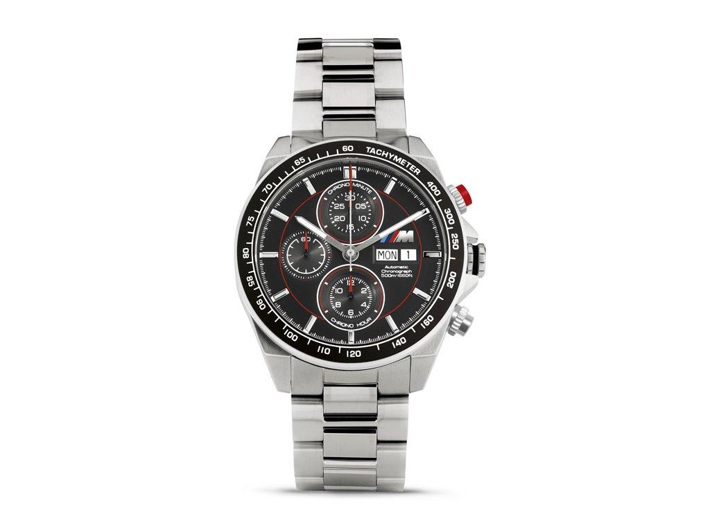 BMW M Pánské náramkové hodinky Chrono automatické - stříbrné 80262406695