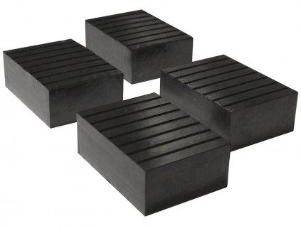 low profile rubber block