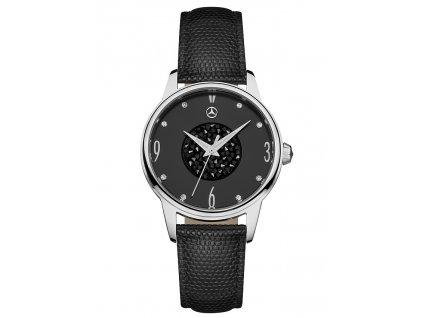 Mercedes-Benz Dámské náramkové hodinky Glamour Mark 2 stříbrno-černé B66041922