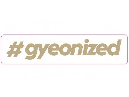 gyeon sticker gold