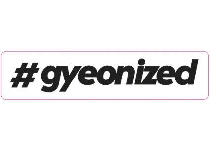 gyeon sticker black