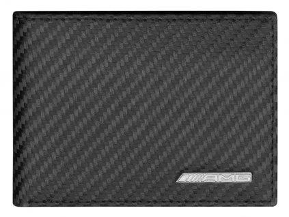 AMG Minigeldborse schwarz Carbonleder B66959996 2