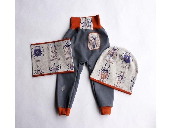 softshellové jarní kalhoty Hmyzíci