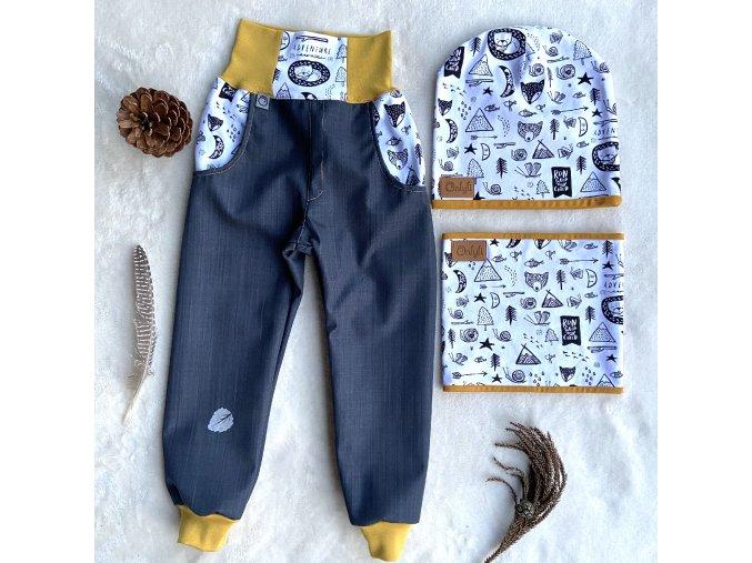 softsheelové jarní kalhoty Dobrodružství