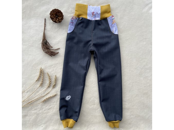softsheelové jarní kalhoty Kaštánek