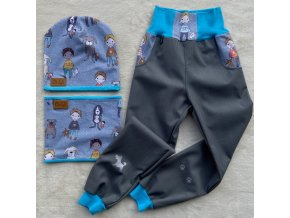 softshellové jarní kalhoty Retro auta