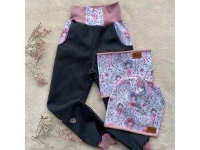 kalhoty květinky a komplet