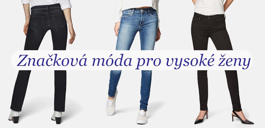 Dámské džíny prodloužené velikosti