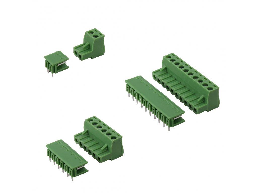 odnímatelné svorkovnice pro PCB