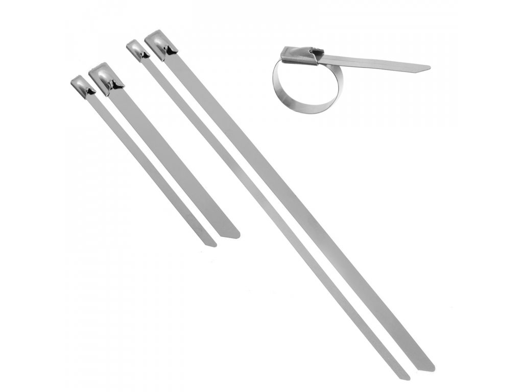 Nerezová vázací páska s kuličkovým zámkem [10ks]