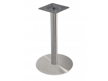 Nerezová stolová podnož s kruhovou základnou