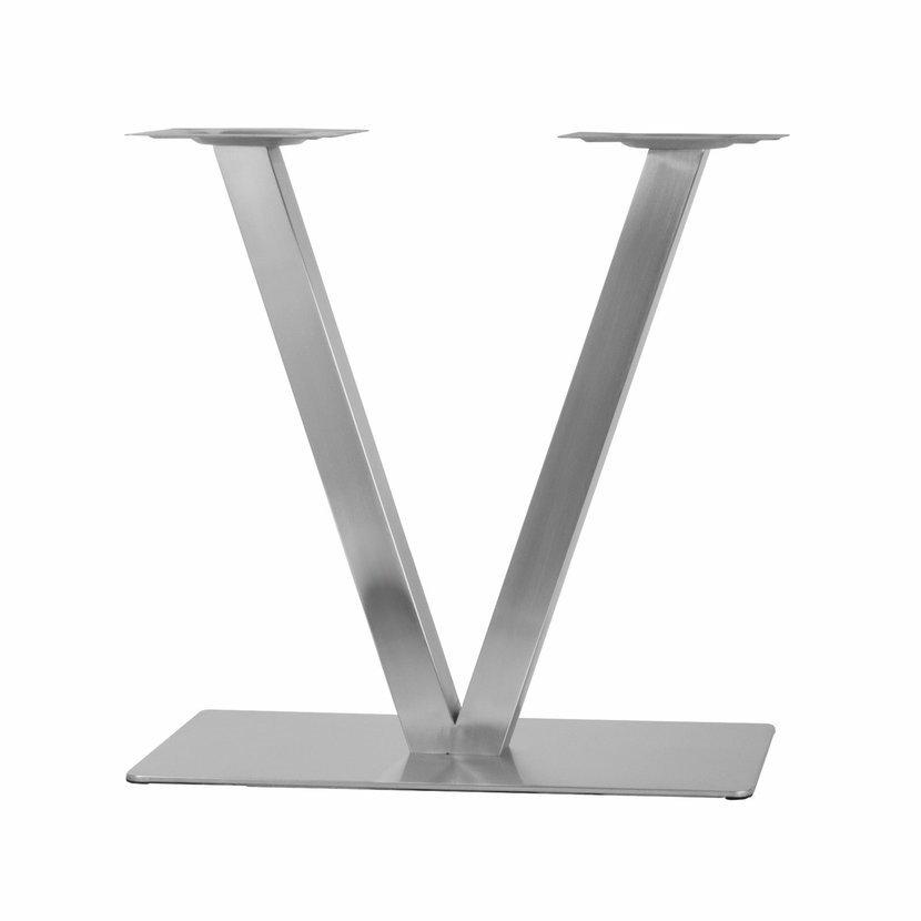Onpira Nerezová dvojitá stolová podnož V 40x70x70 cm