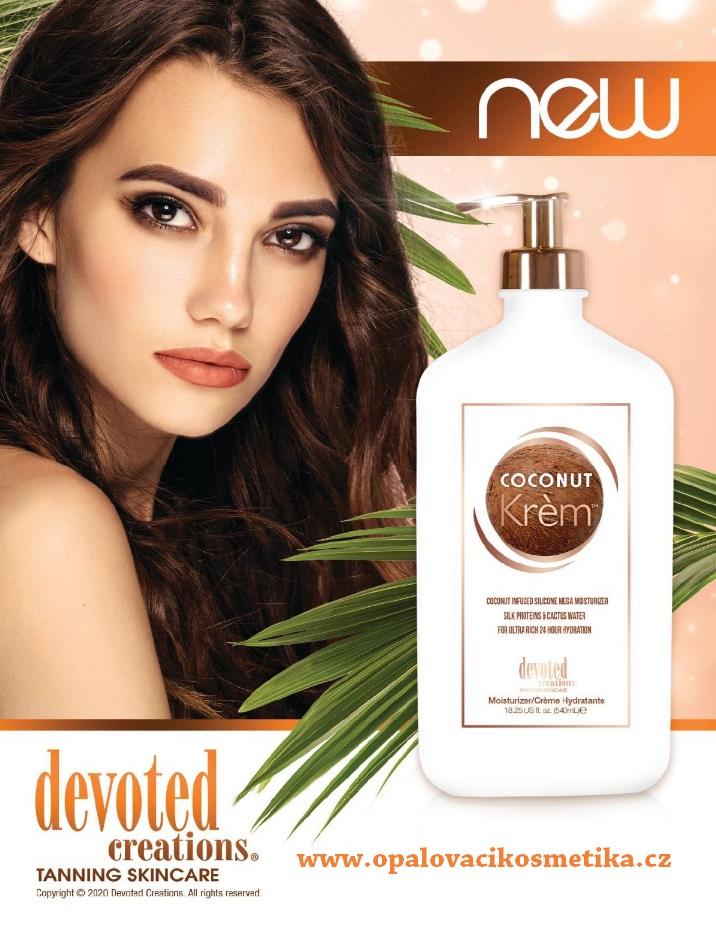 Hydratační krém Devoted Creations Coconut Krem