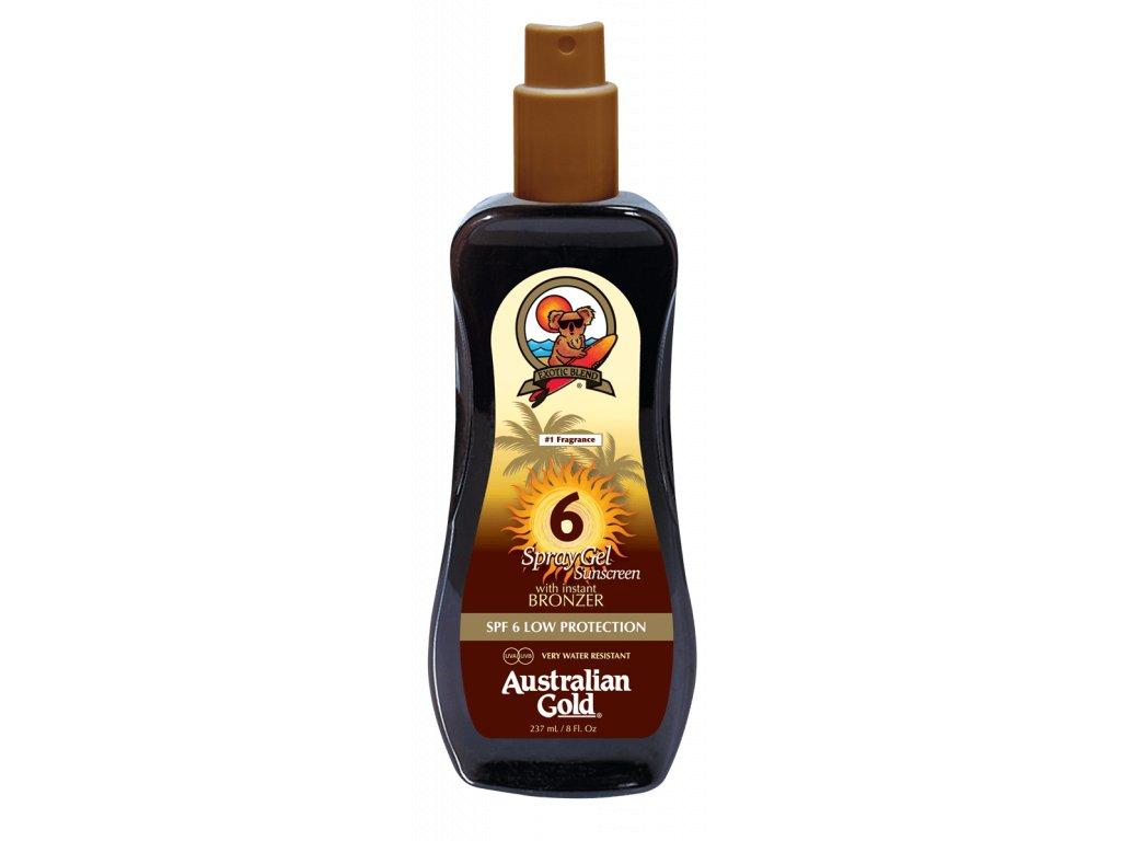Australian Gold SPF 6 Spray Gel Bronzer 237ml