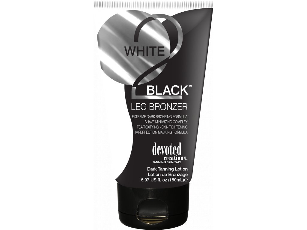 devoted creations white 2 black leg bronzer