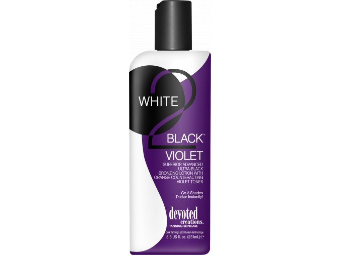 devoted creations white 2 black violet 260ml