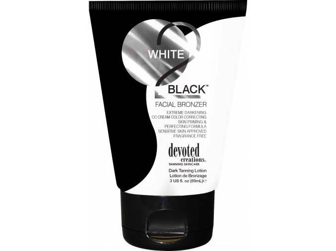 devoted creations white 2 black facial bronzer