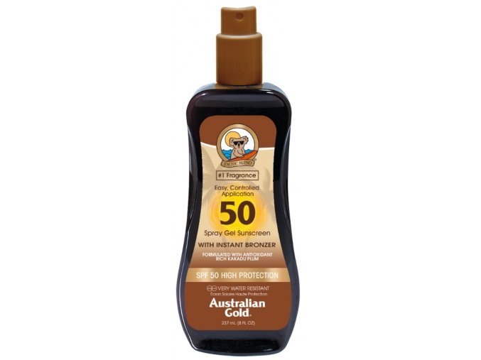 Australian Gold SPF 50 Spray Gel Bronzer 237ml