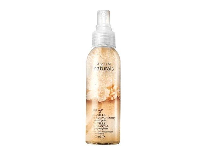 Avon Osvěžující tělový sprej s vanilkou a santalovým dřevem 100ml