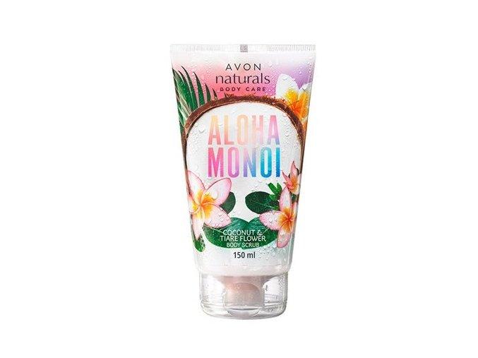 Avon Tělový peeling Aloha Monoi s vůní kokosu a květu tiaré 150ml
